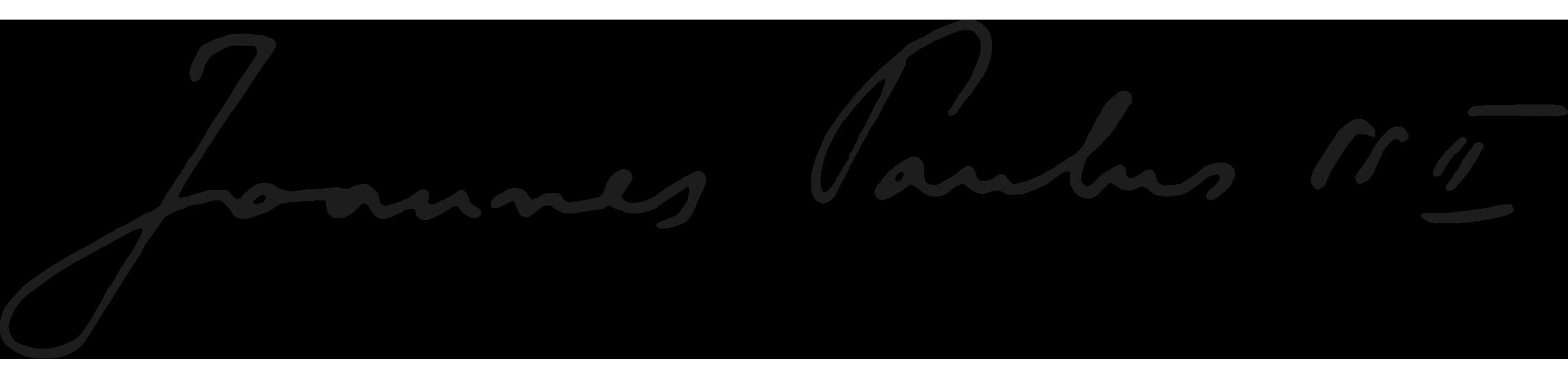 Firma di papa Giovanni Paolo II